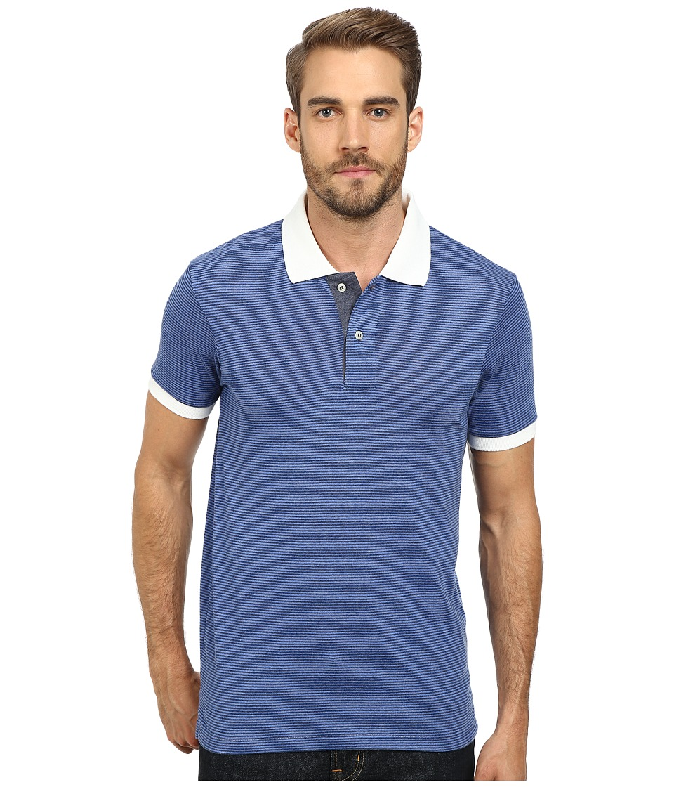 Alternative - Feeder Stripe Polo (Eco True Navy) Men's Clothing