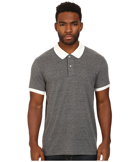 Alternative - Feeder Stripe Polo (Eco Sand/Stone) Men's Clothing