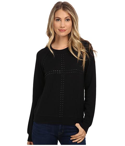 Paige - Agnes Embellished Sweatshirt (Black) Women's Sweater
