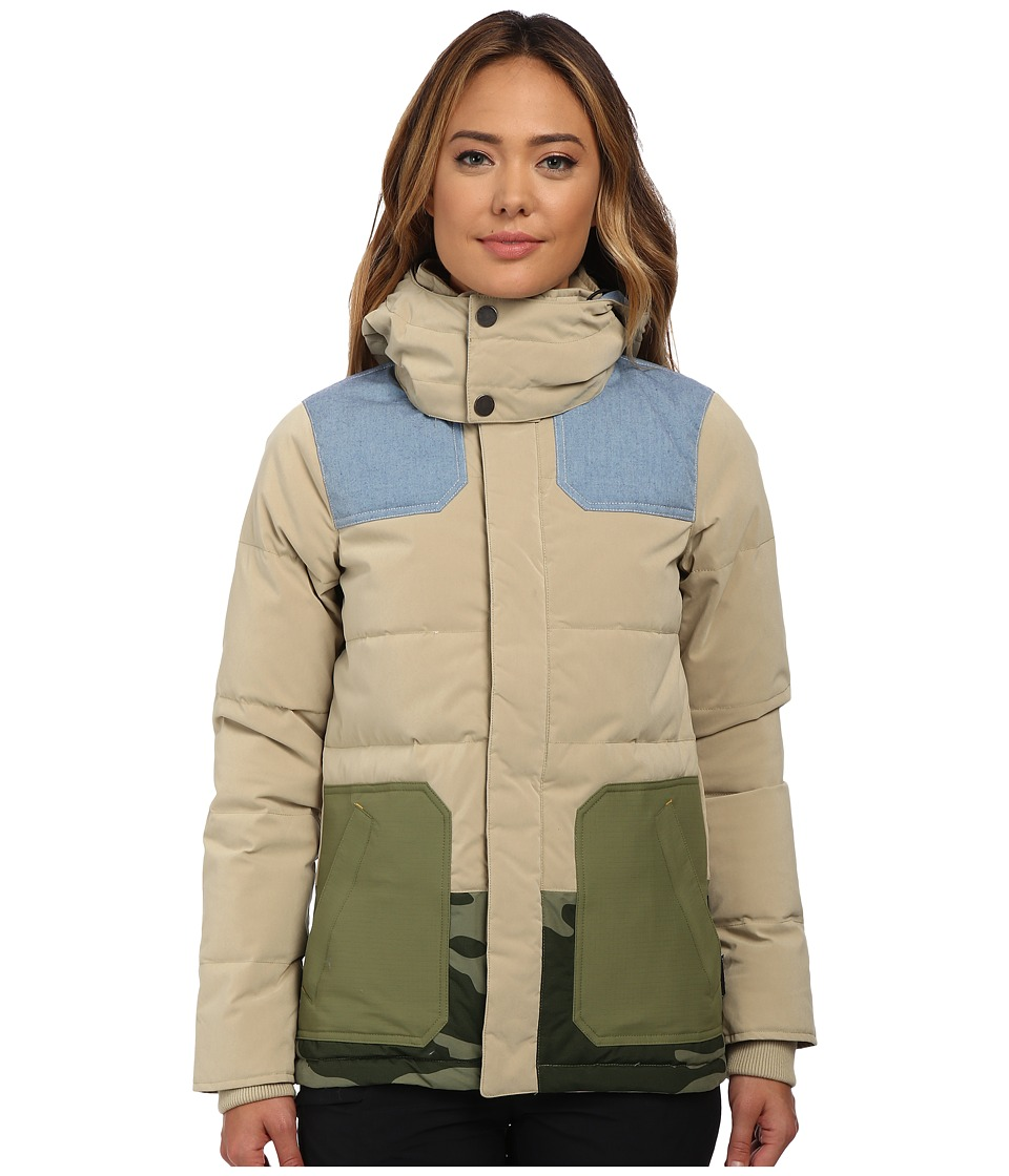 Burton - Lamb Blitz Jacket (Cement/Chambray/Weeds/Camo) Women