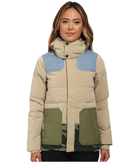 Burton - Lamb Blitz Jacket (Cement/Chambray/Weeds/Camo) Women's Coat