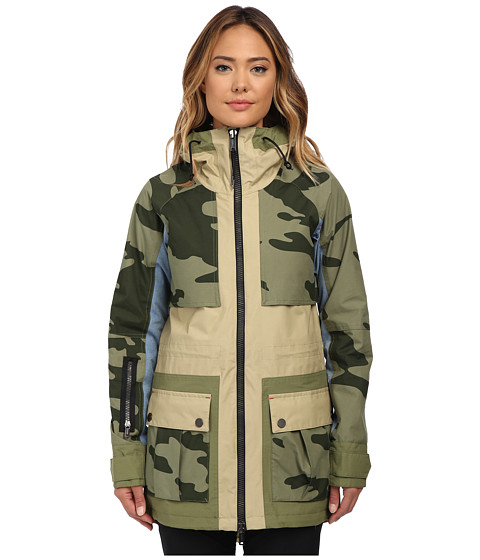 Burton - Lamb Riff Parka (Cement/Chambray/Weeds/Camo) Women's Coat