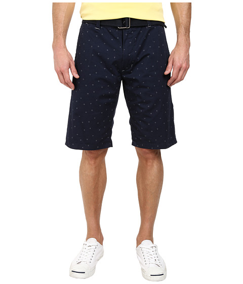Buffalo David Bitton - Heywood Flat Front Shorts (Whale) Men's Shorts