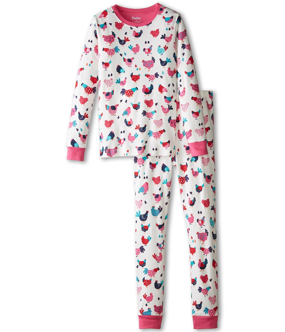 Hatley Kids - Hens Chicks PJ Set (Toddler/Little Kids/Big Kids) (Cream) Girl's Pajama Sets