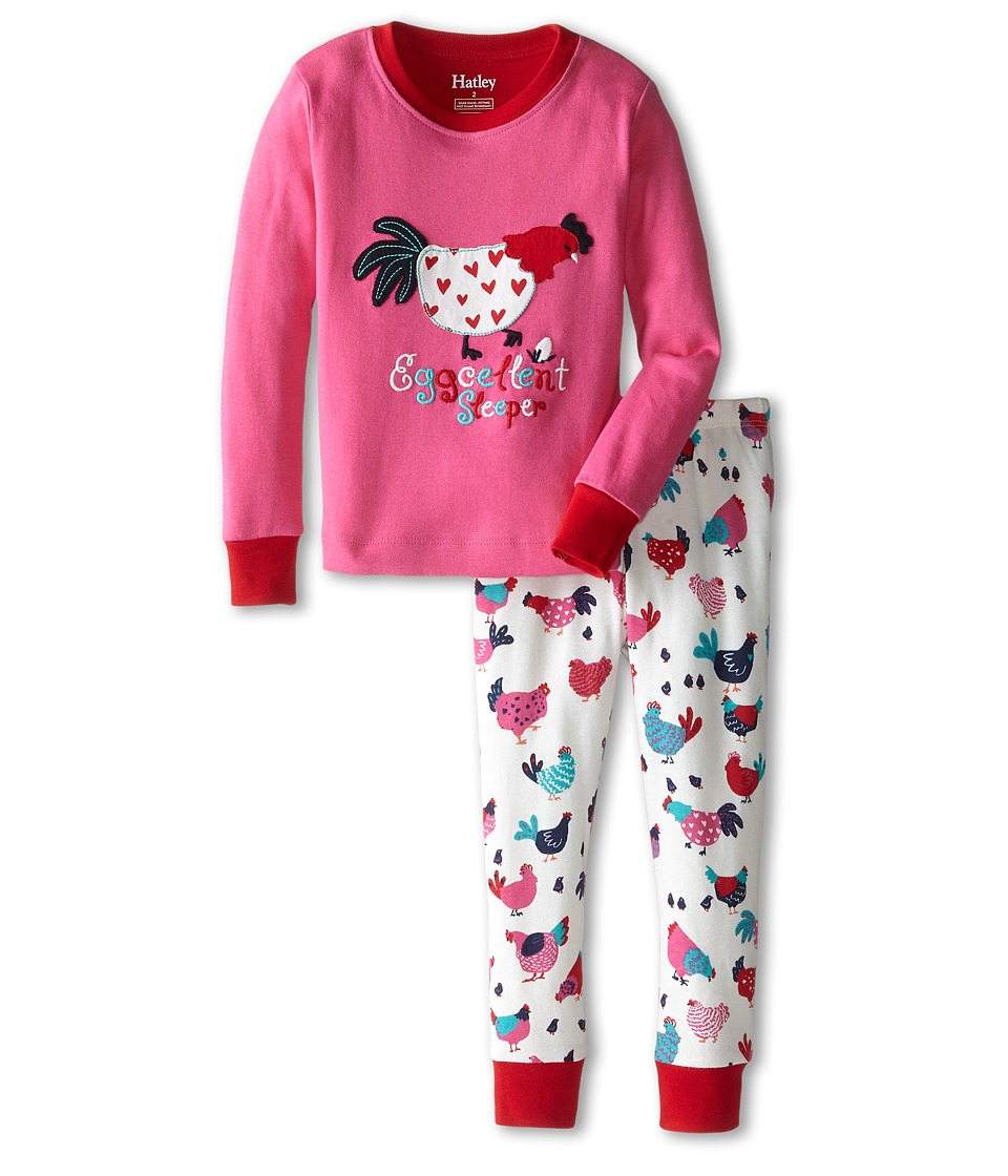 Hatley Kids - Hens Chicks PJ Set (Toddler/Little Kids/Big Kids) (Pink) Girl's Pajama Sets