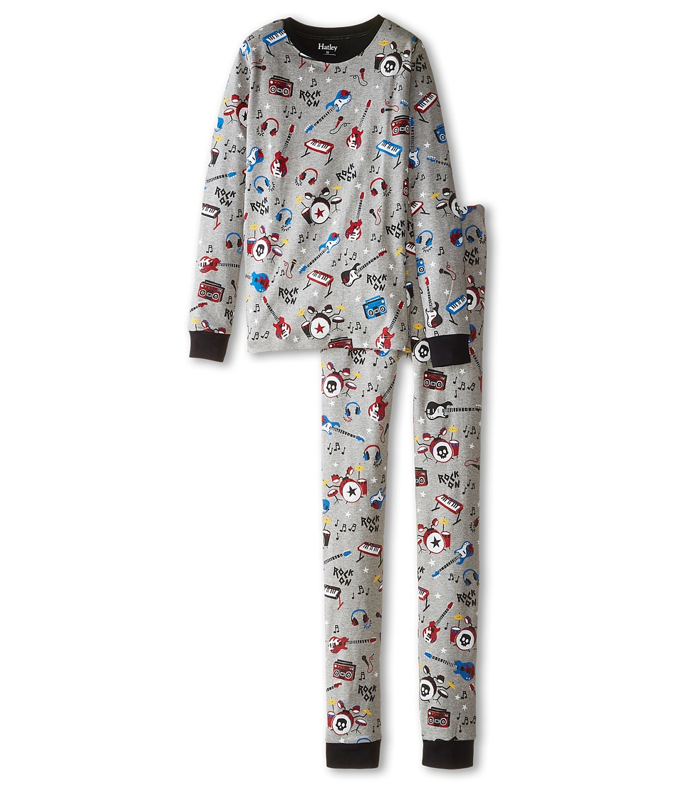 Hatley Kids - Rock Band PJ Set (Toddler/Little Kids/Big Kids) (Grey) Boy's Pajama Sets