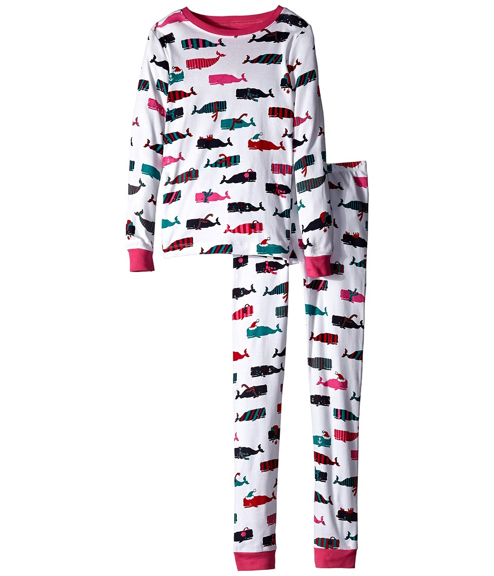Hatley Kids - Scarf Whales PJ Set (Toddler/Little Kids/Big Kids) (White) Girl's Pajama Sets