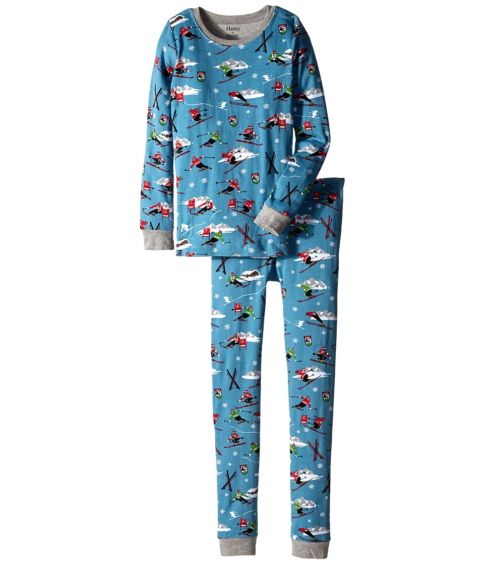 Hatley Kids - Retro Ski PJ Set (Toddler/Little Kids/Big Kids) (Blue) Boy