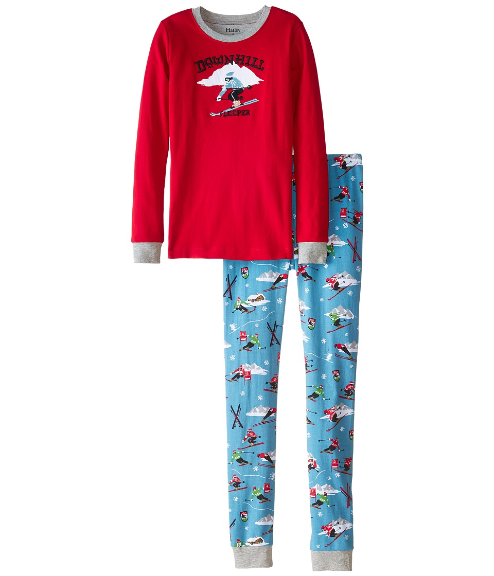 Hatley Kids - Retro Ski PJ Set (Toddler/Little Kids/Big Kids) (Blue) Boy's Pajama Sets