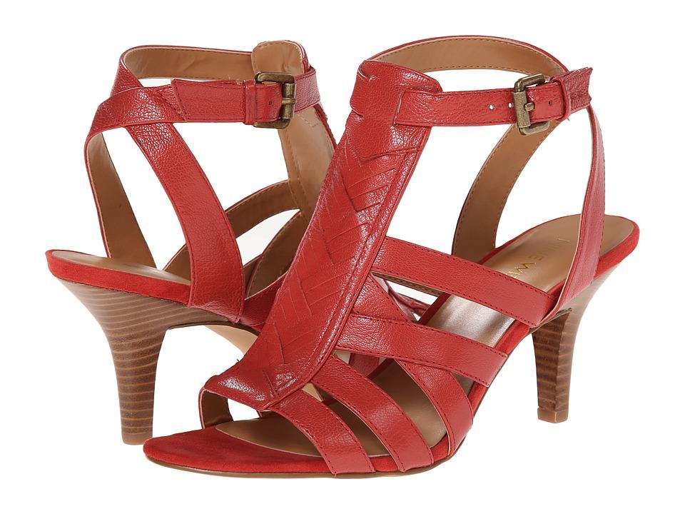 Nine West - 7Bruni (Orange Leather) High Heels