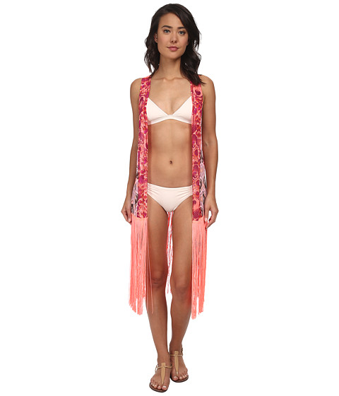 Maaji - Wolfy Nectarine Kimono Cover-Up (Multi) Women's Dress