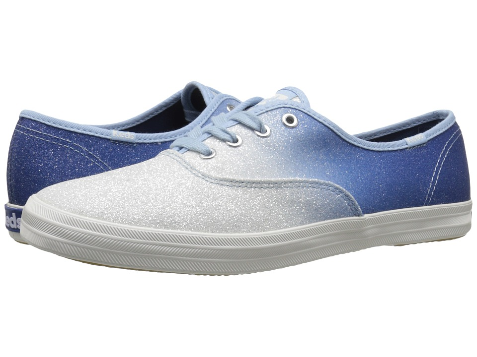 Keds Champion Ombre Glitter (Blue) Women