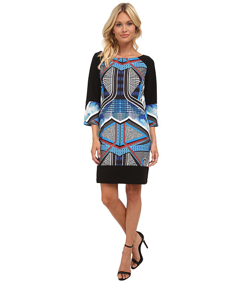 Hale Bob - New York City Story Shift Dress (Blue) Women's Dress
