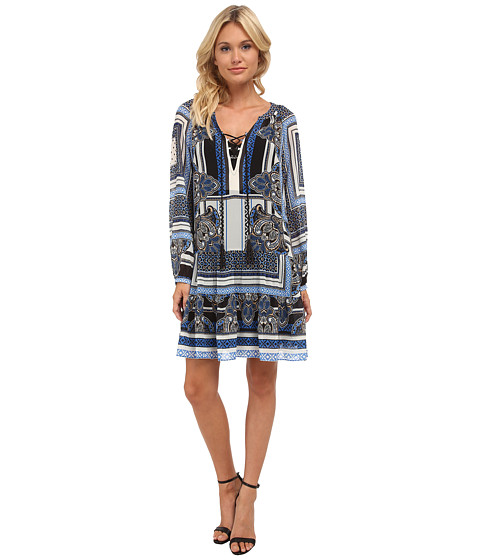 Hale Bob - American Vintage Drop Waist Dress (Blue) Women's Dress