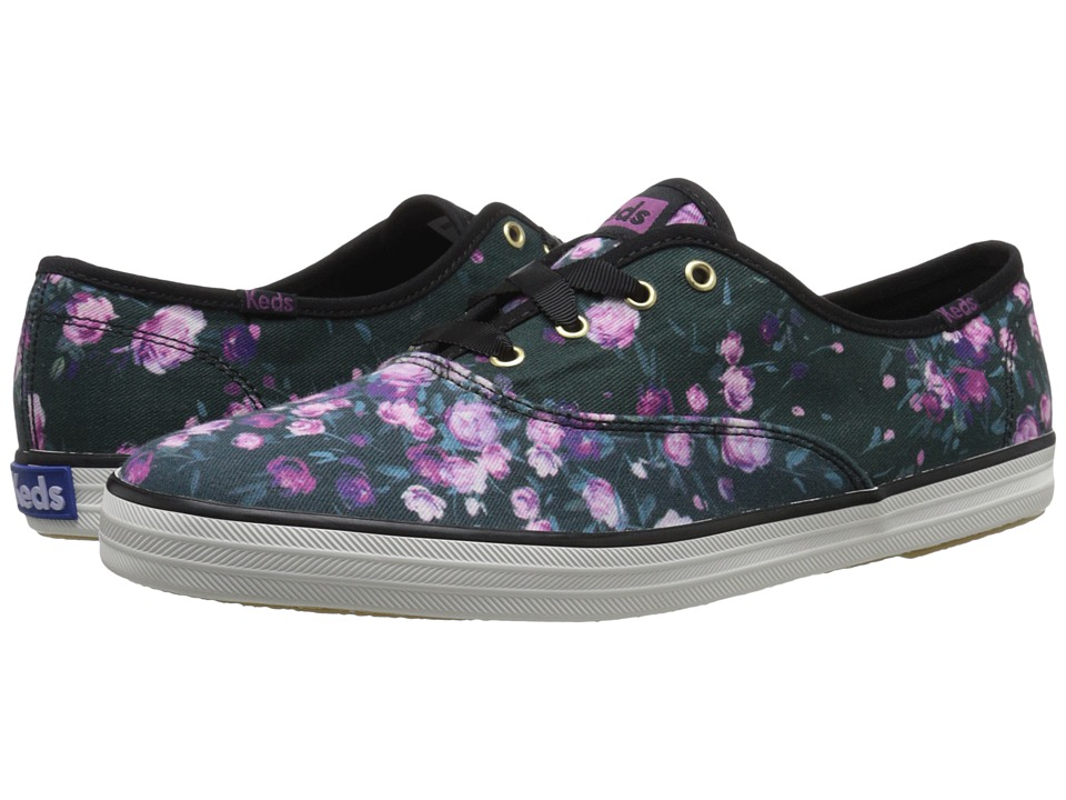 Keds - Champion Frost Floral (Black) Women's Lace up casual Shoes