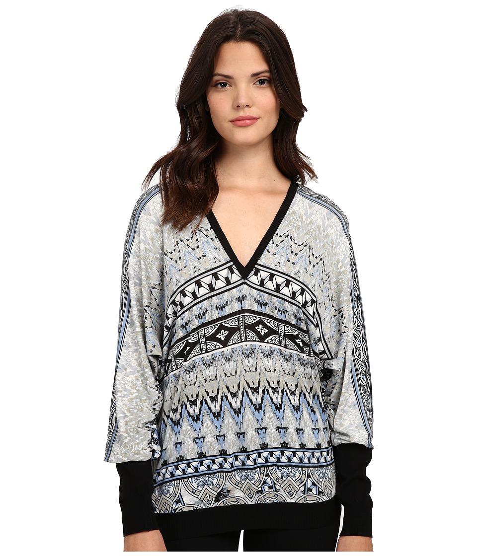Hale Bob - The Dream Catcher Doleman Sleeve Knit Top (Blue) Women's Clothing