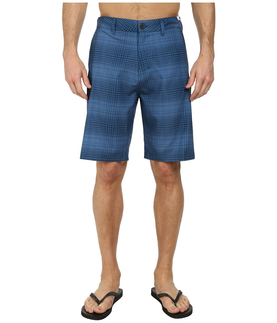 Quiksilver - Everyday Plaid Amphibian 21 Walk Shorts (Navy Blazer) Men's Shorts