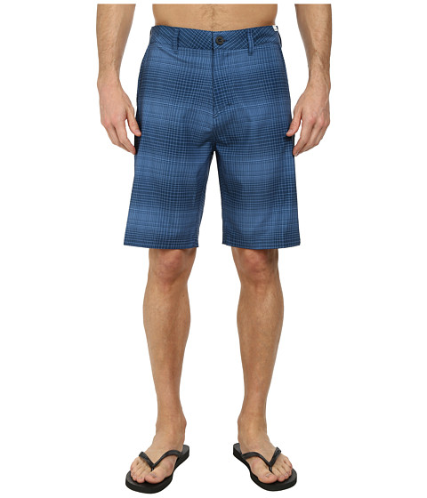 Quiksilver - Everyday Plaid Amphibian 21 Walk Shorts (Navy Blazer) Men
