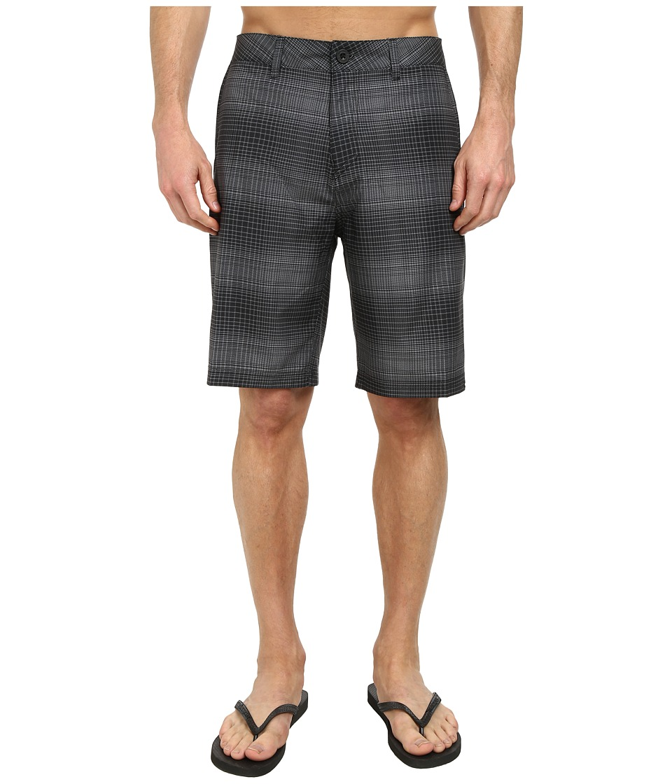 Quiksilver - Everyday Plaid Amphibian 21 Walk Shorts (Black) Men's Shorts