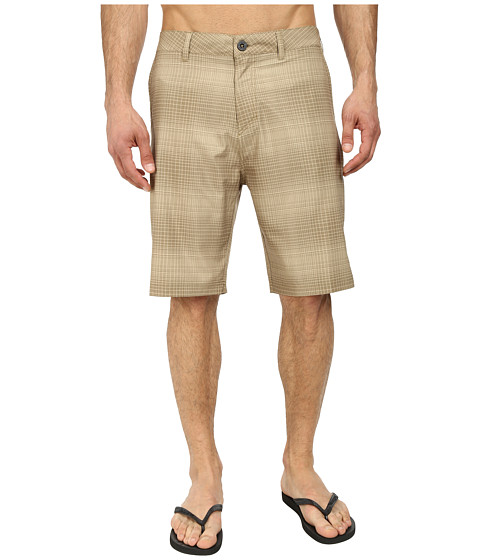Quiksilver - Everyday Plaid Amphibian 21 Walk Shorts (Elmwood) Men