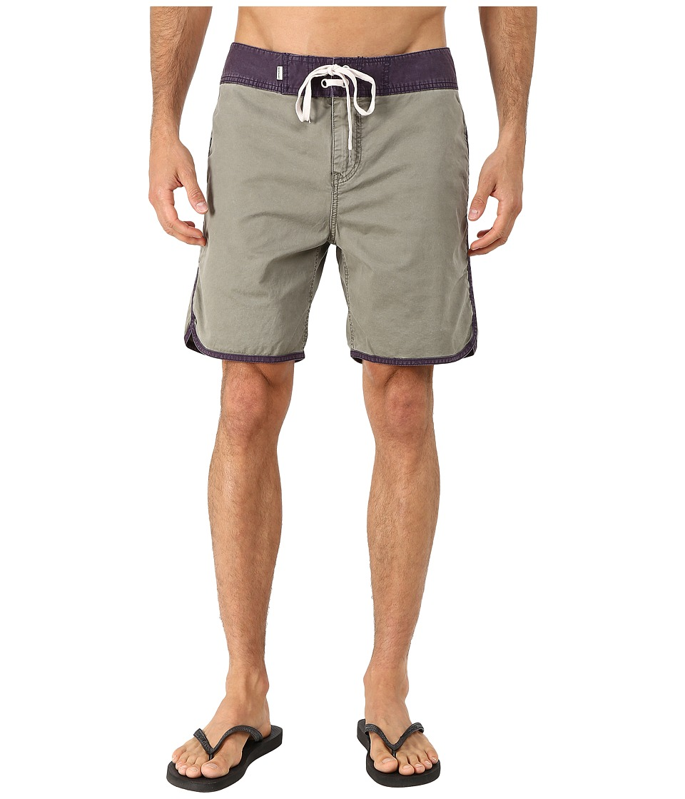 Quiksilver - Street Trunks Scallop Walk Shorts (Dusty Olive) Men