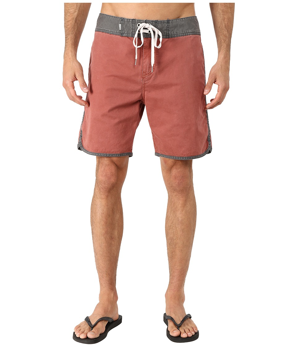 Quiksilver - Street Trunks Scallop Walk Shorts (Henna) Men's Shorts