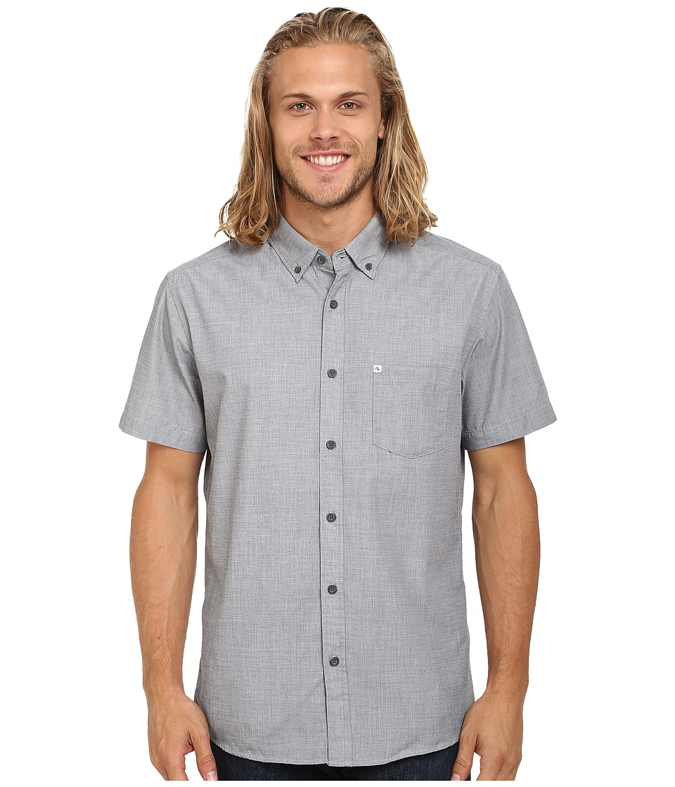 Quiksilver - Wilsden Short Sleeve Woven Top (Navy Blazer) Men