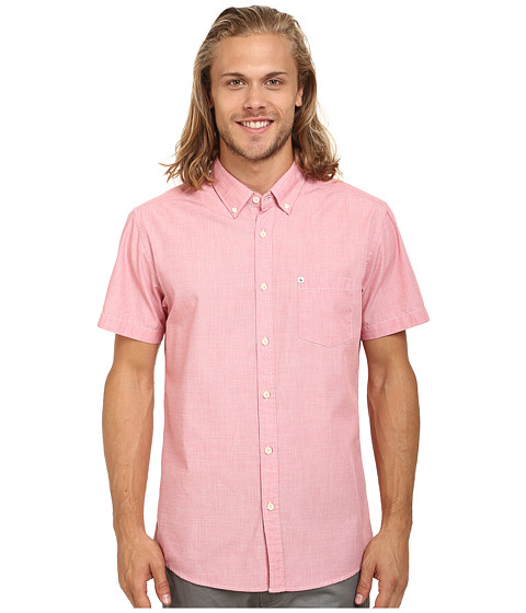 Quiksilver - Wilsden Short Sleeve Woven Top (Baked Apple) Men's Short Sleeve Button Up