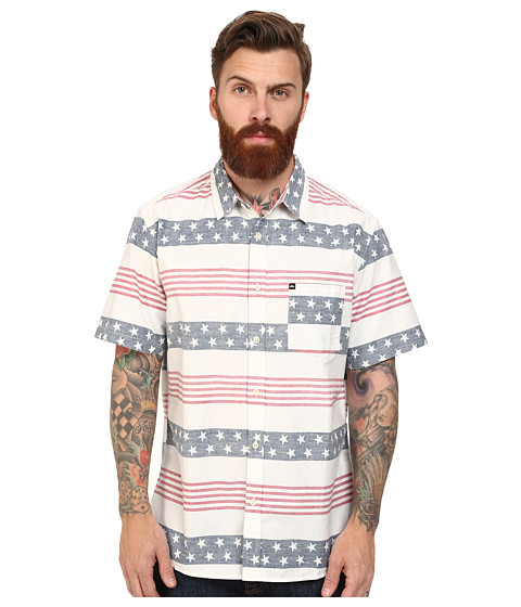 Quiksilver - Merican Woven Top (Merican) Men's Short Sleeve Button Up