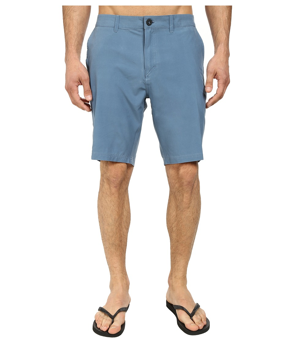 Quiksilver - Washed Amphibian 19 Walk Shorts (Bluestone) Men