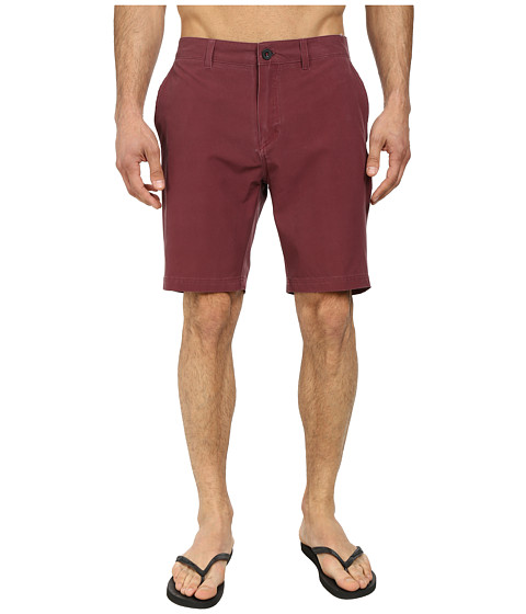 Quiksilver - Washed Amphibian 19 Walk Shorts (Cabernet) Men