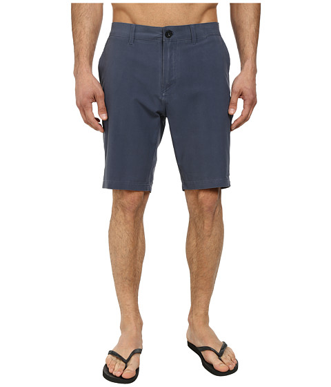 Quiksilver - Washed Amphibian 19 Walk Shorts (Navy Blazer) Men