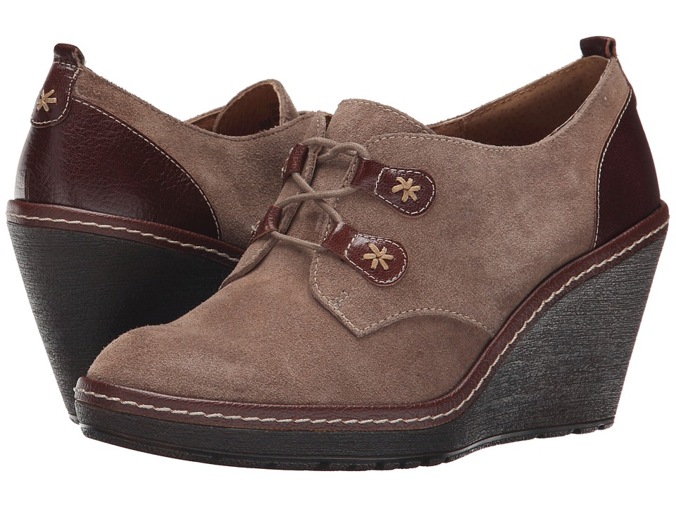 Sofft - Camila (Havana Brown Alaska Suede) Women's Lace up casual Shoes