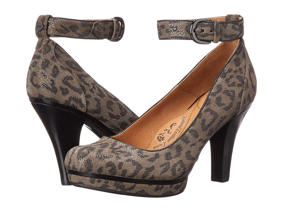 Sofft - Manhattan (Grey Leopard Hair Foil Suede) High Heels