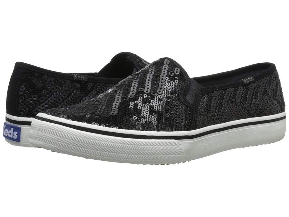 Keds Double Decker Sequin (Black) Women