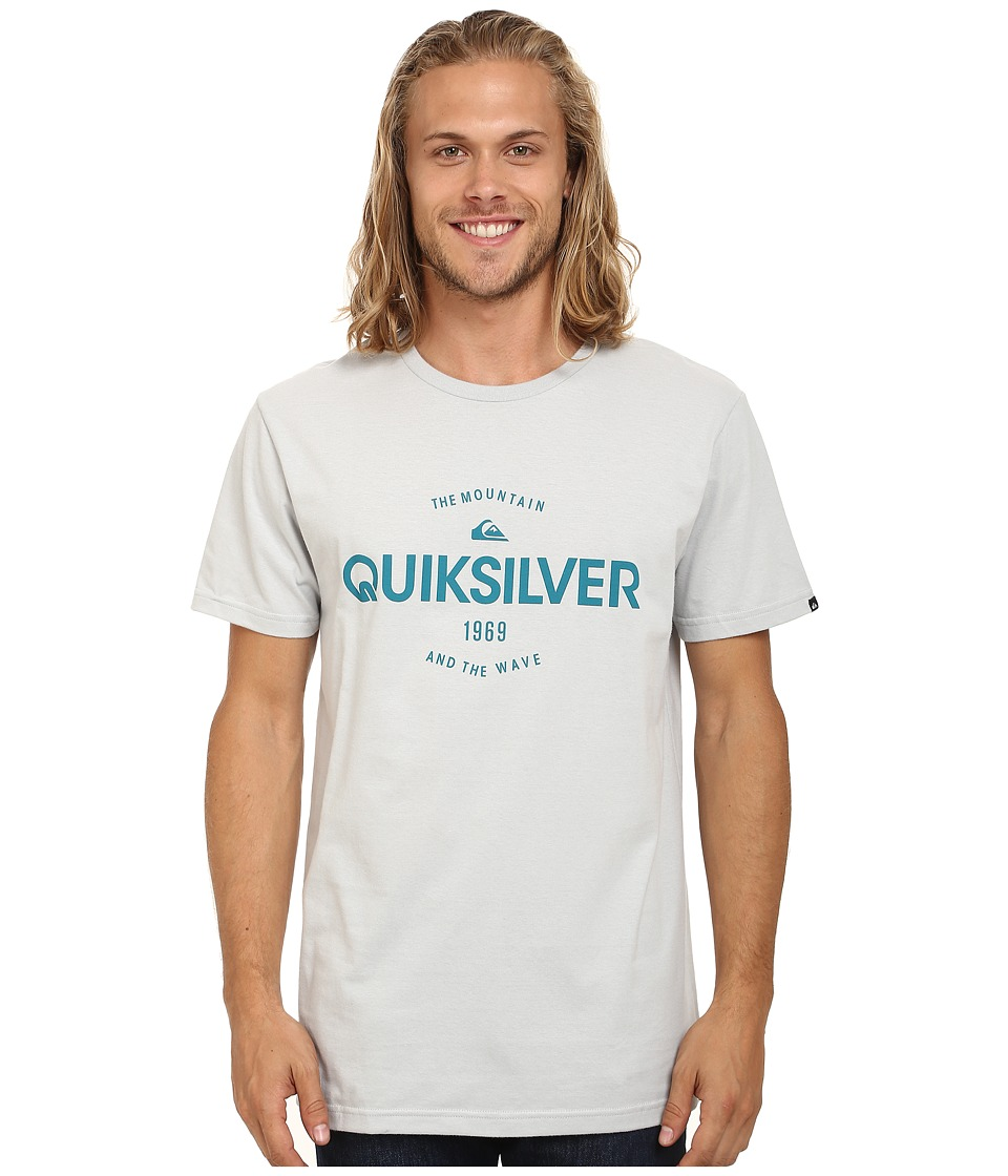 Quiksilver - Commander MT4 Screen Tee (High Rise Gray) Men