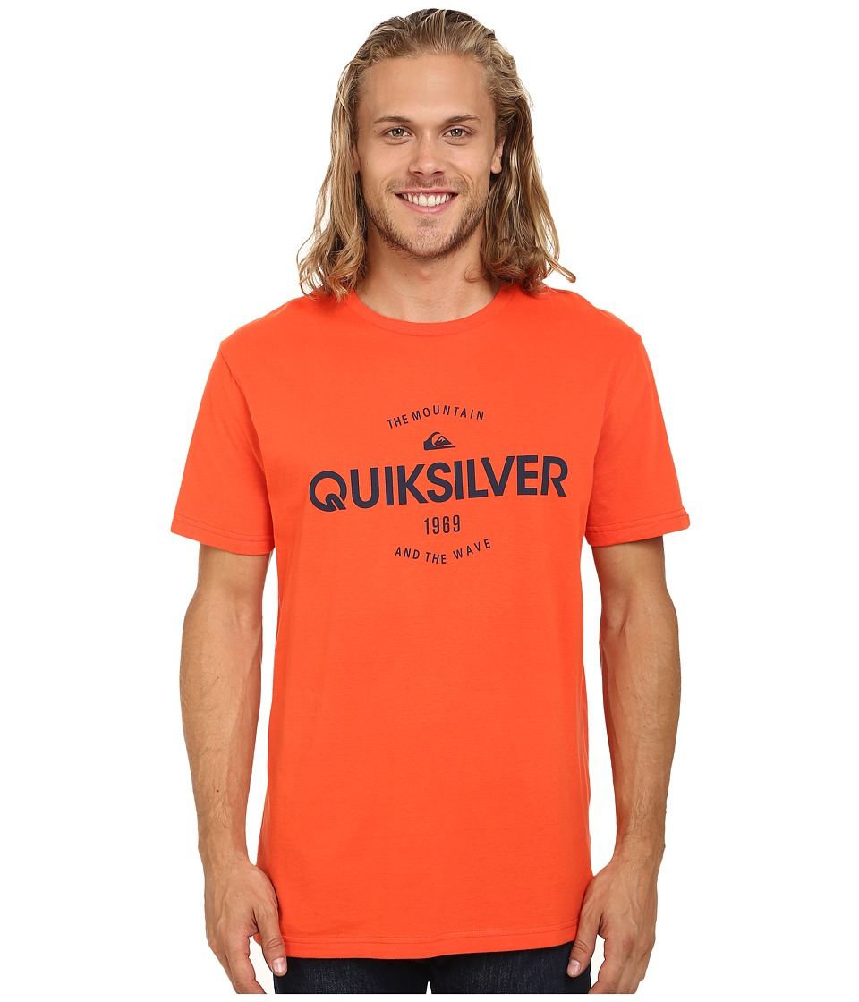 Quiksilver - Commander MT4 Screen Tee (Mandarin Red) Men