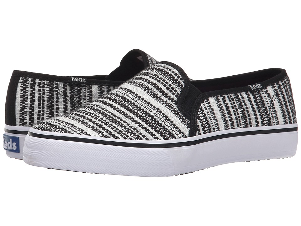 Keds Double Decker Metallic Woven Stripe (Black) Women