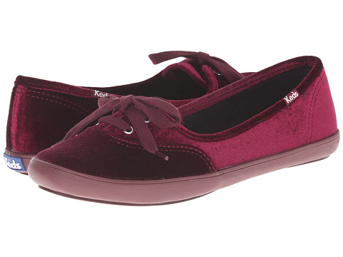 Keds - Teacup Velvet (Wine) Women's Flat Shoes