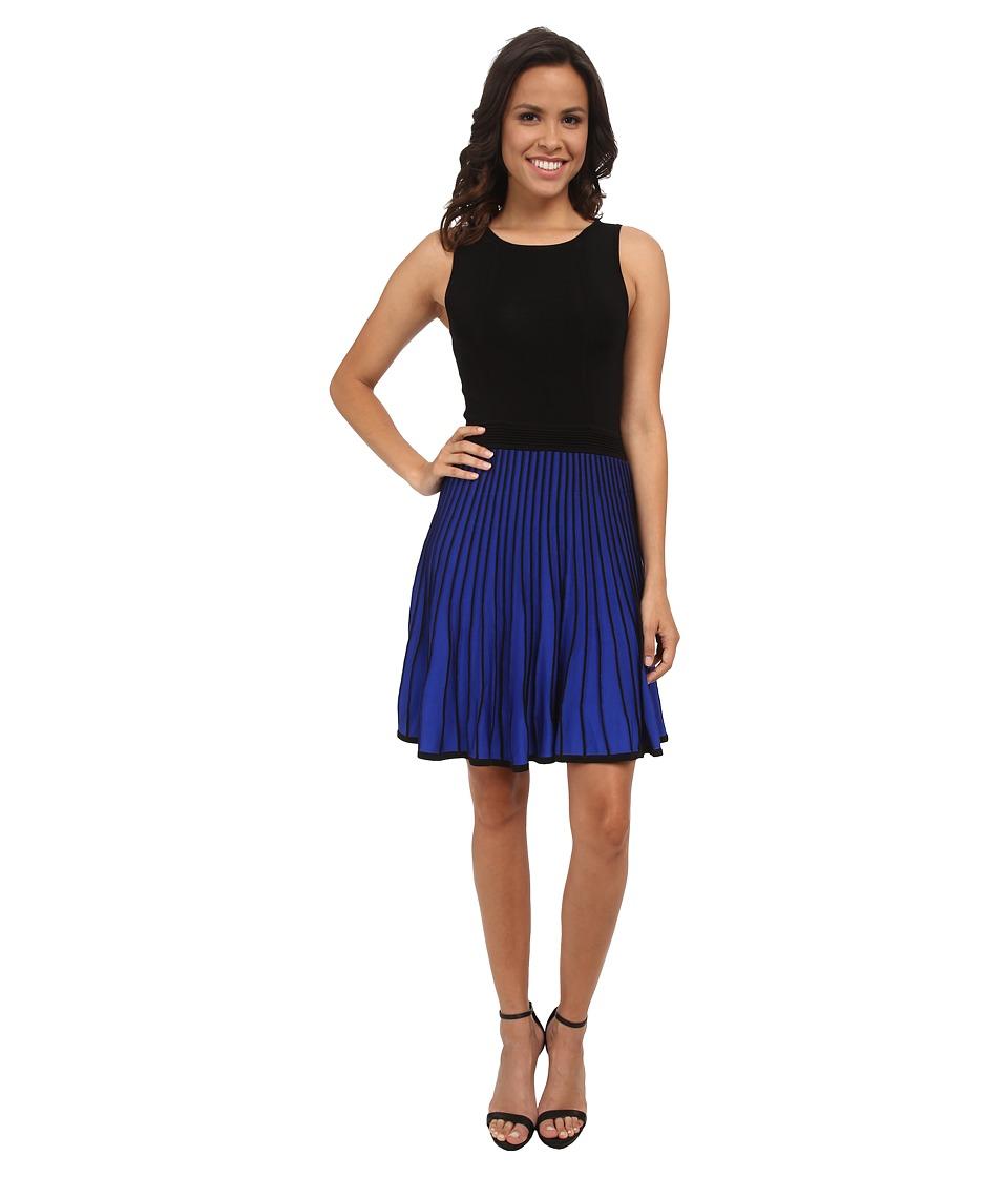 Shoshanna - Bernadette Sweater Dress (Black/Azure) Women