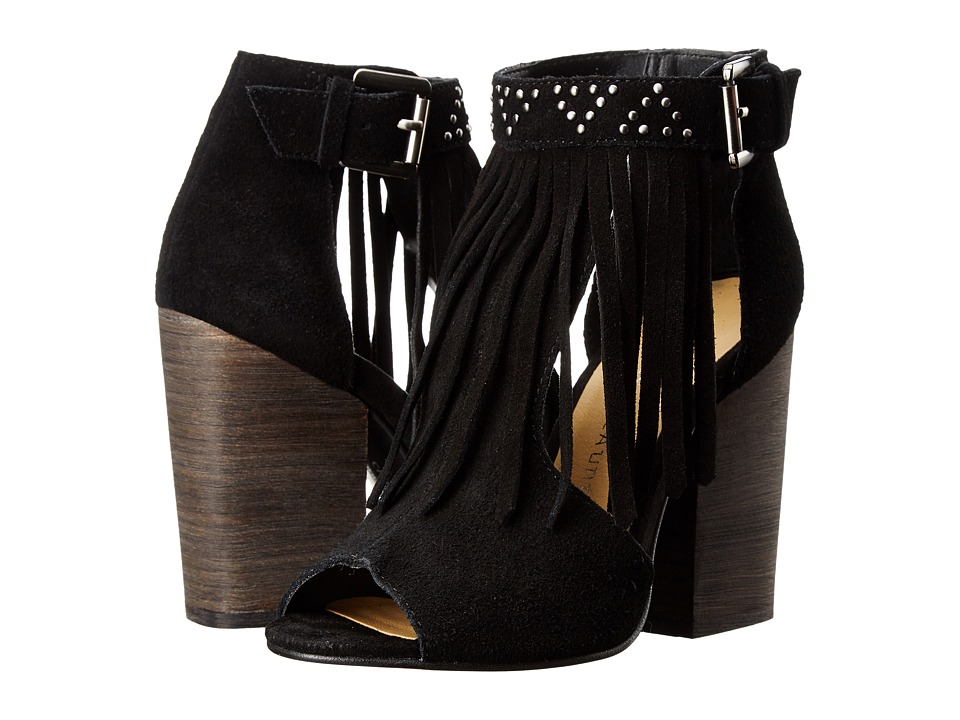 Chinese Laundry Boho Fringe Bootie (Black) High Heels
