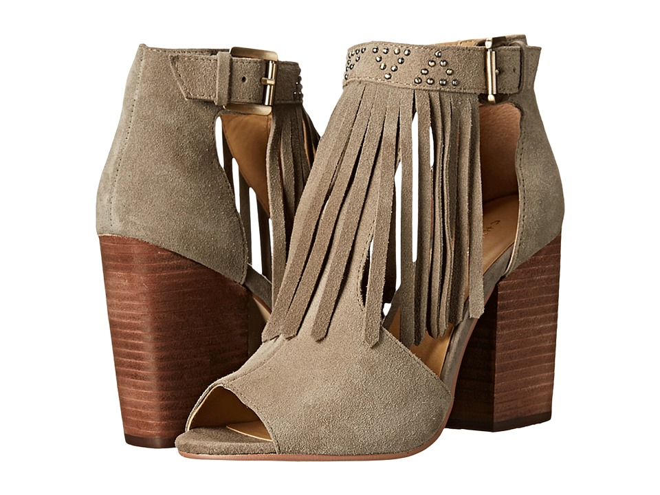 Chinese Laundry Boho Fringe Bootie (Grey) High Heels