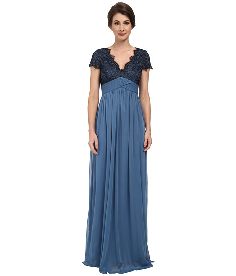 Adrianna Papell - Scalloped Lace Bodice w/ Full Skirt (Nile) Women