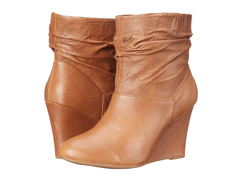 Chinese Laundry - U Bet Leather Wedge Bootie (New Cognac) Women's Boots