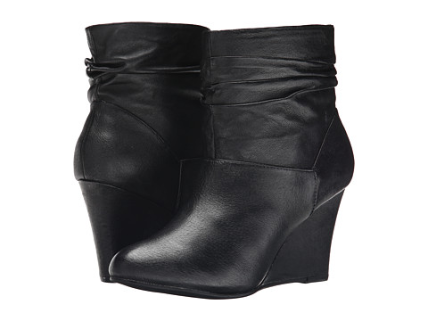 Chinese Laundry - U Bet Leather Wedge Bootie (Black) Women
