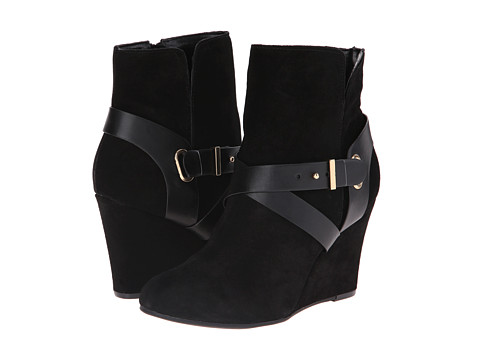 Chinese Laundry - Ultimate Suede Wedge Bootie (Black) Women