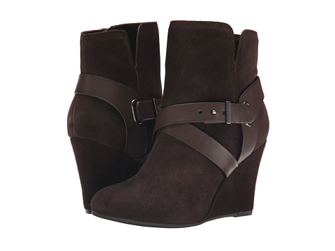 Chinese Laundry - Ultimate Suede Wedge Bootie (Chocolate) Women's Zip Boots
