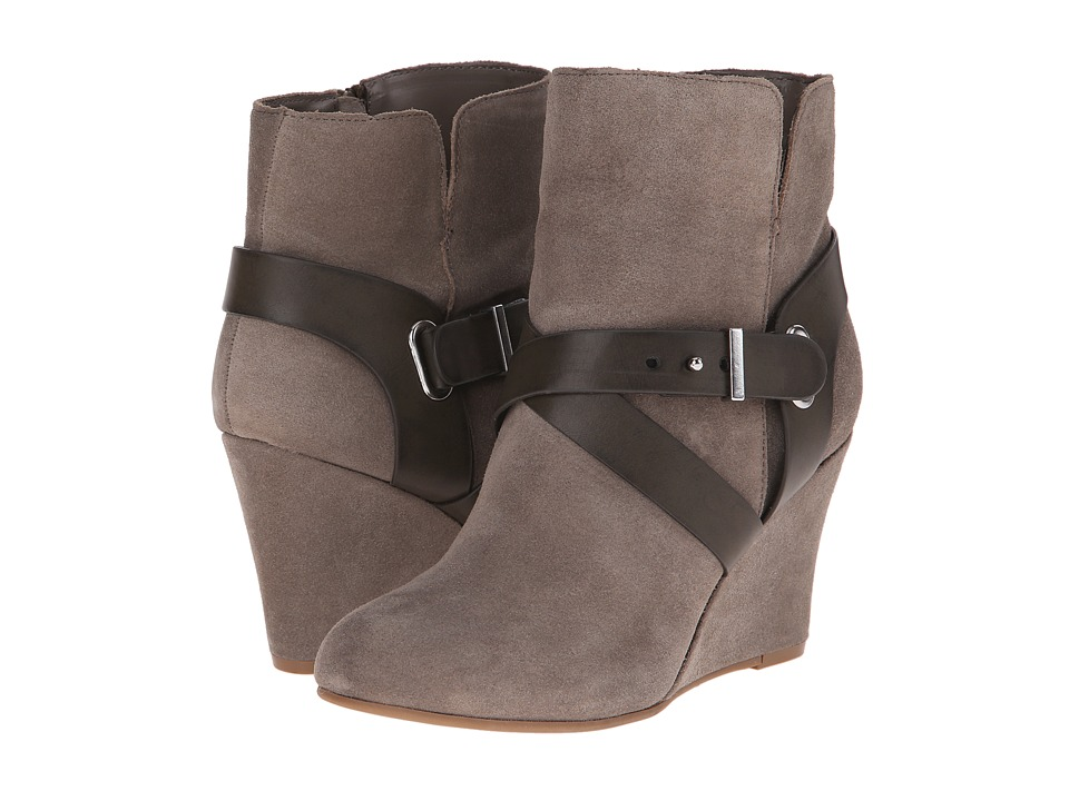 Chinese Laundry - Ultimate Suede Wedge Bootie (Grey) Women
