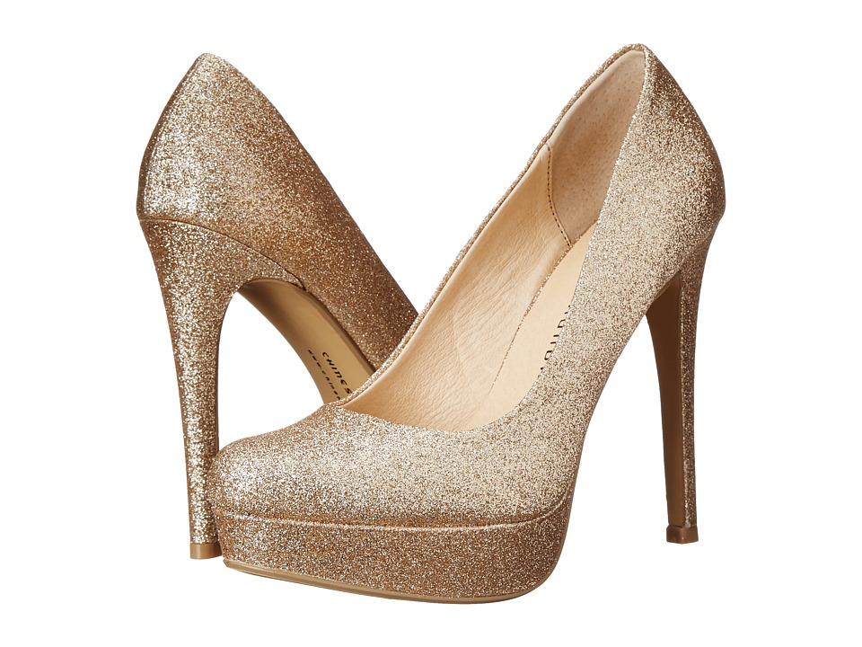 Chinese Laundry - Wow Glitter Platform Pump (Gold) High Heels