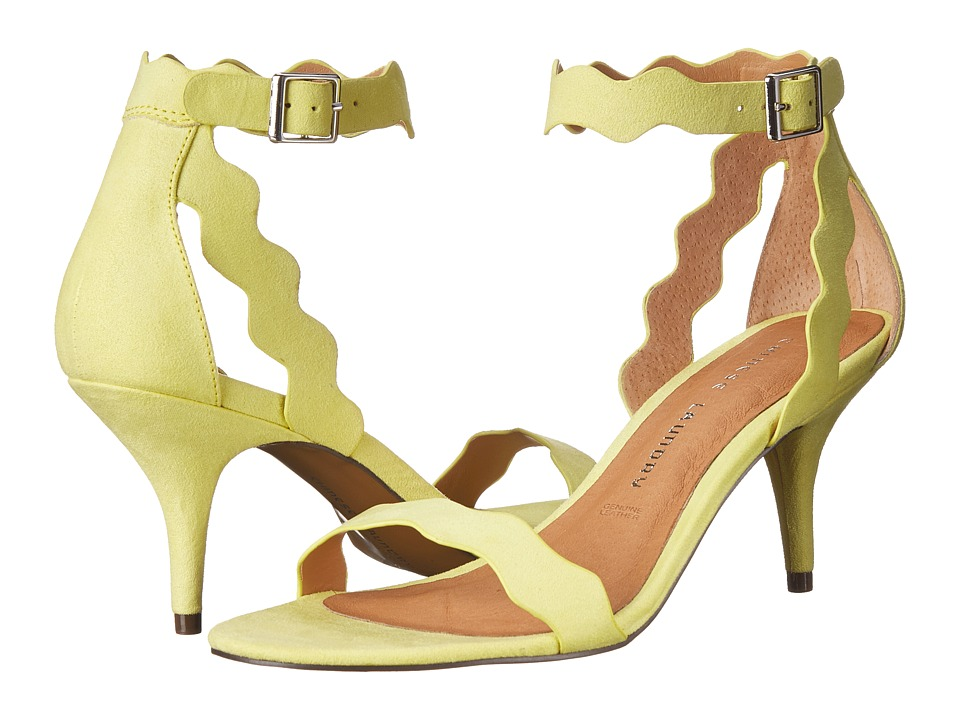 Chinese Laundry - Rubie Scalloped Sandal (Lime Suede) High Heels
